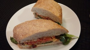 Fried BLT on a plate - The Surprised Gourmet