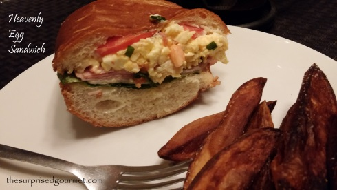 Heavenly Egg Sandwich with home fries