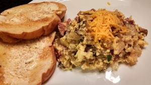 Smoked Sausage Scramble is a tasty meal for the entire family
