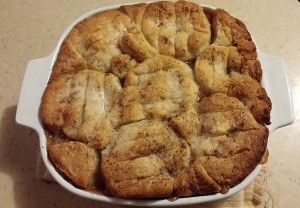 Tasty bowl of apple cobbler - The Surprised Gourmet