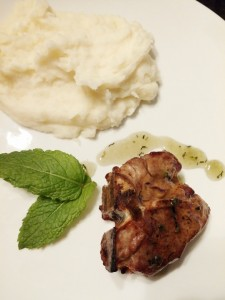 Lamb Chops with Mint Sauce - The Surprised Gourmet