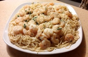 Plate of Delicious Shrimp Scampi - The Surprised Gourmet