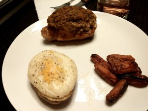 Stuffed Pork Chops with Fixings - The Surprised Gourmet