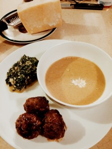 Blue Cheese Meatballs and Acorn Squash Soup Meal - The Surprised Gourmet